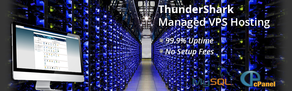 Get started with web hosting from ThunderShark